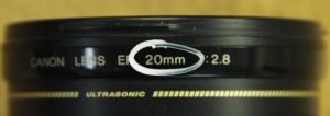 20 MM Focal Length Lens