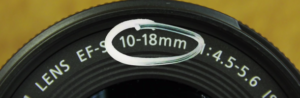 Zoom Lens with 10-18mm focal legnth