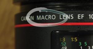 macro setting on lens