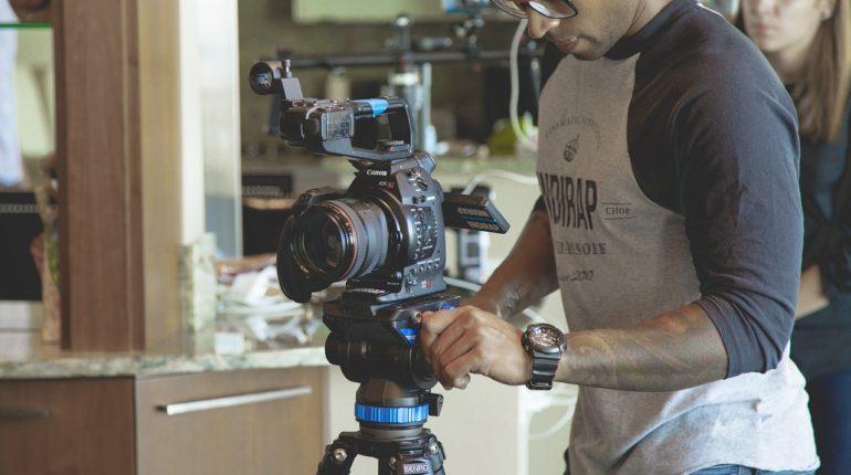 Camera shooting Youtube Video